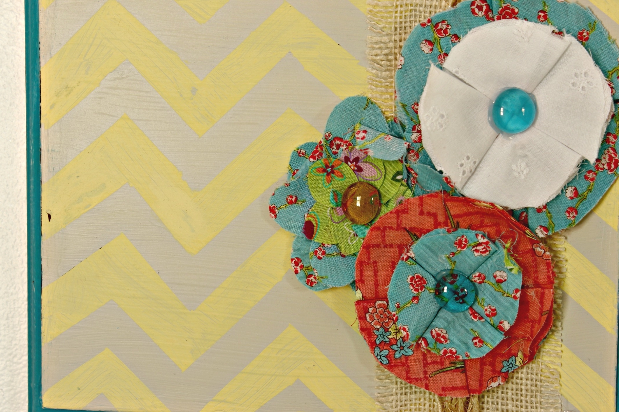 Diy Fabric Flower Wall Art Intended For Most Up To Date Quick & Easy Diy Wall Art (Gallery 13 of 15)