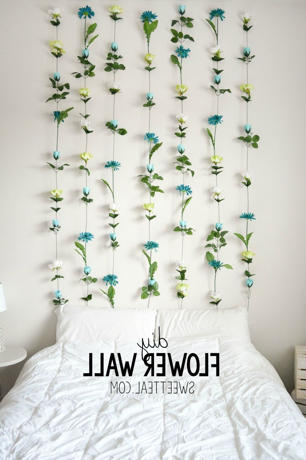 Diy Flower Wall // Headboard // Home Decor (View 4 of 15)