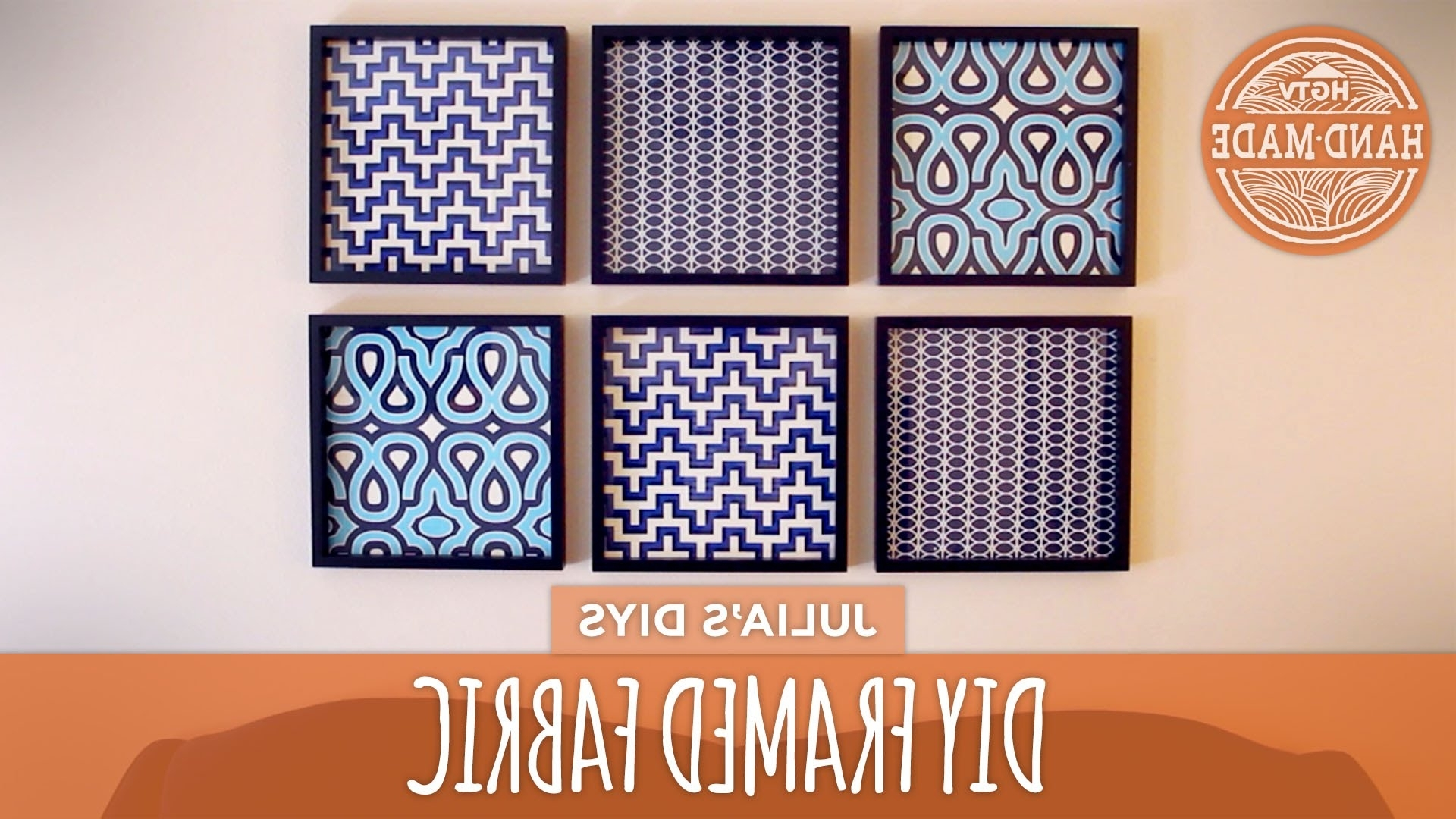 Diy Framed Fabric Gallery Wall – Hgtv Handmade – Youtube Throughout Favorite Cheap Fabric Wall Art (View 5 of 15)