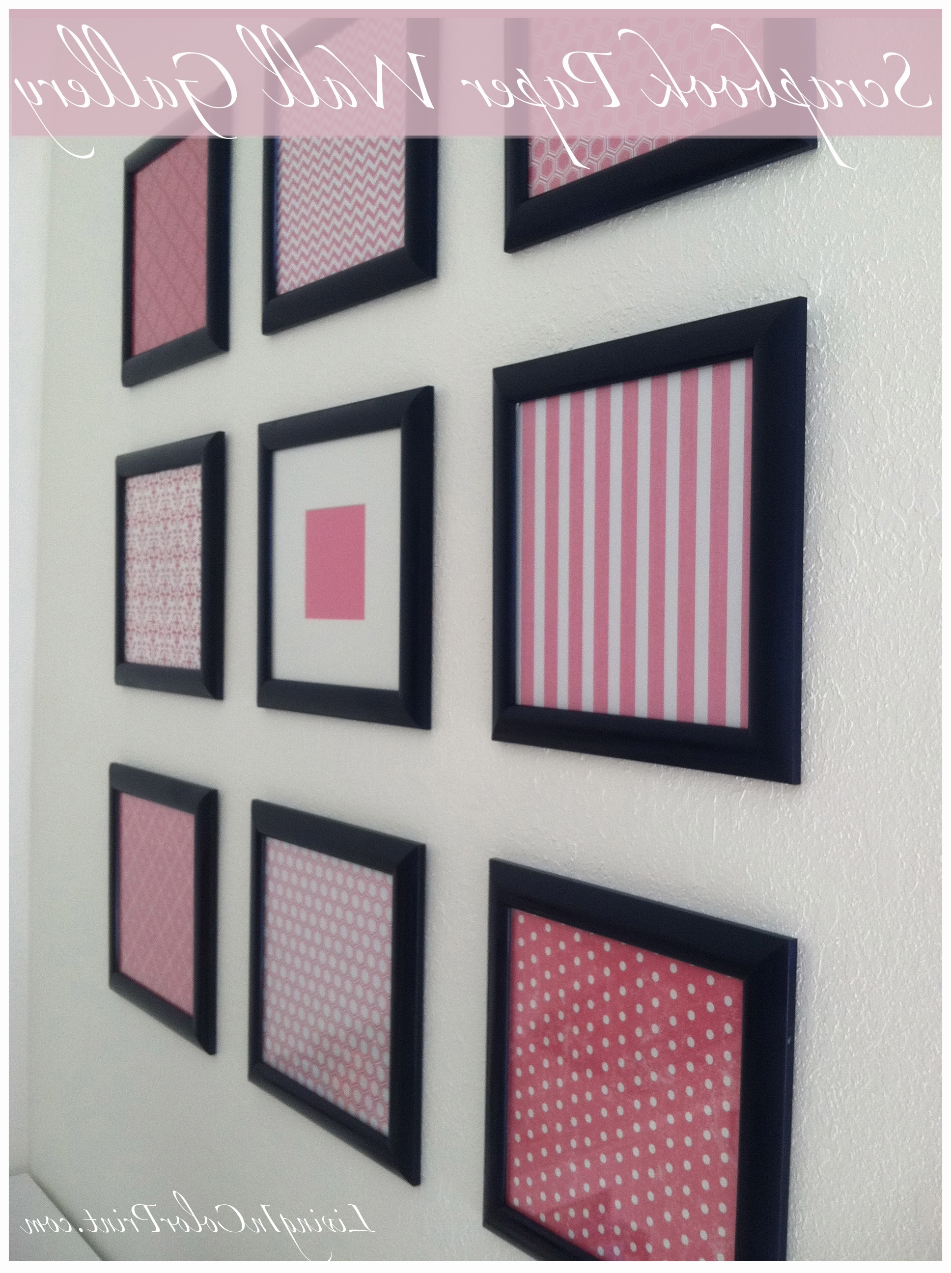 Diy Framed Scrapbook Paper Gallery Wall (View 4 of 15)