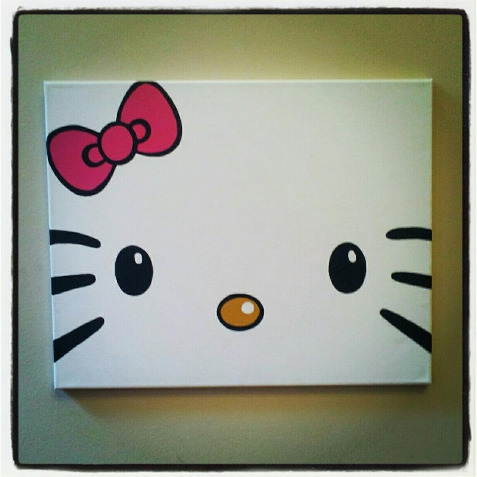 Diy Hello Kitty Canvas Paintingtotally Making This For My Regarding Famous Hello Kitty Canvas Wall Art (Gallery 3 of 15)
