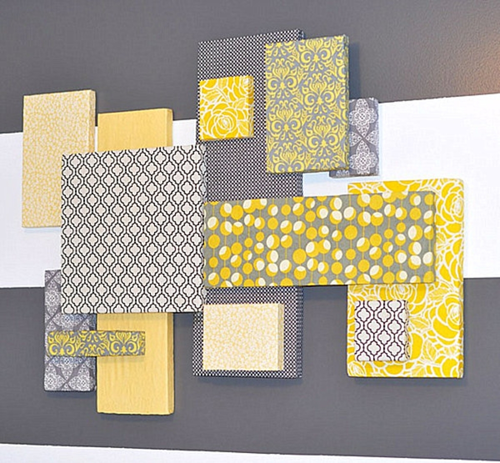 Diy Projects: Styrofoam And Fabric Diy Wall Art – 25 Diy Wall Art Within Well Known Styrofoam Fabric Wall Art (Gallery 6 of 15)