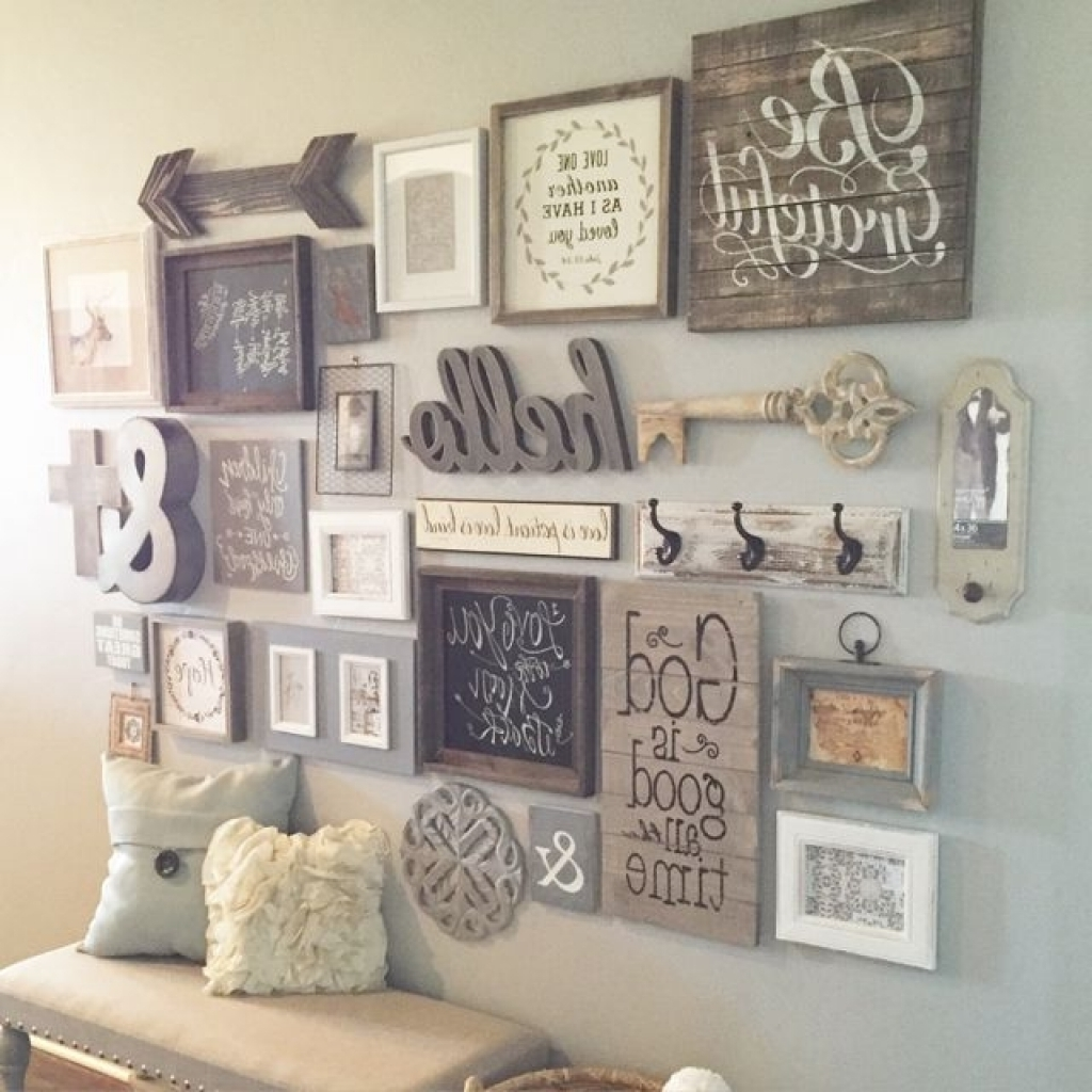 Diy Wall Accents Throughout Most Recently Released Bedroom Wall Decorations Decorating With Photo Frames Diy Wall (View 6 of 15)