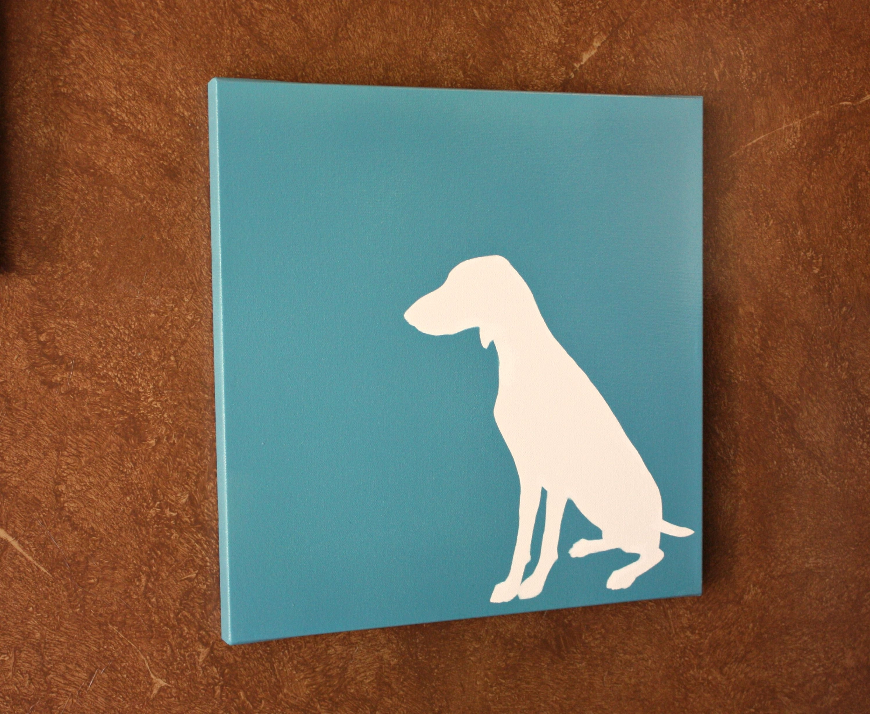 Dogs Canvas Wall Art For Popular Diy Dog Silhouette Art (View 2 of 15)