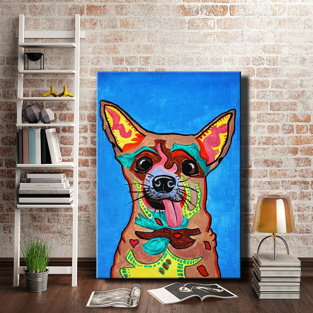 Dogs Canvas Wall Art For Recent Graffiti Dogs Canvas Painting Wall Picture Strong Colorful Prints (View 3 of 15)
