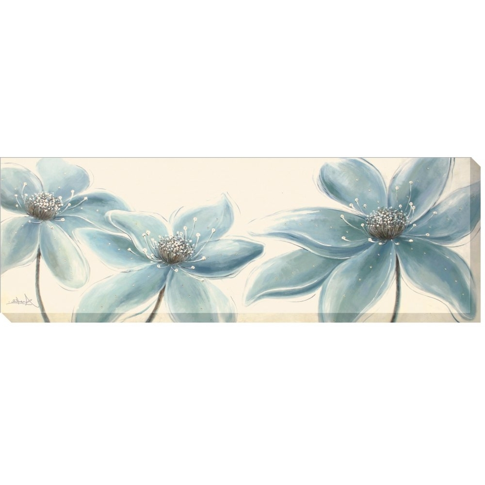 Duck Egg Canvas Wall Art For 2017 Artko Flower Panel Duck Egg Blue – Canvas Wrap (View 2 of 15)
