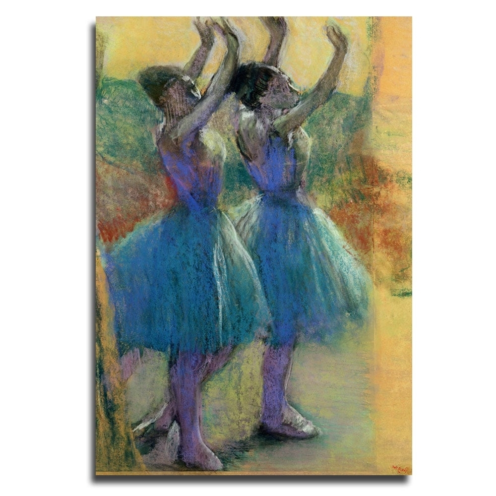 Edgar Degas 'two Blue Dancers' Canvas Wall Art – Free Shipping For Widely Used Dance Canvas Wall Art (View 7 of 15)