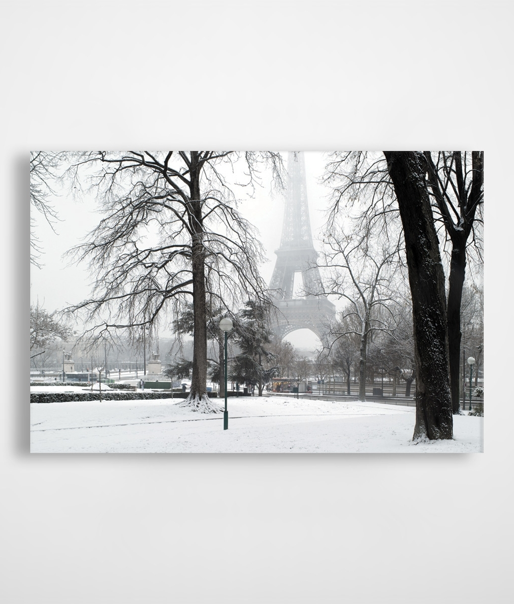 Eiffel Tower Canvas Wall Art Pertaining To Latest Paris In Winter Snow Canvas Print (View 4 of 15)