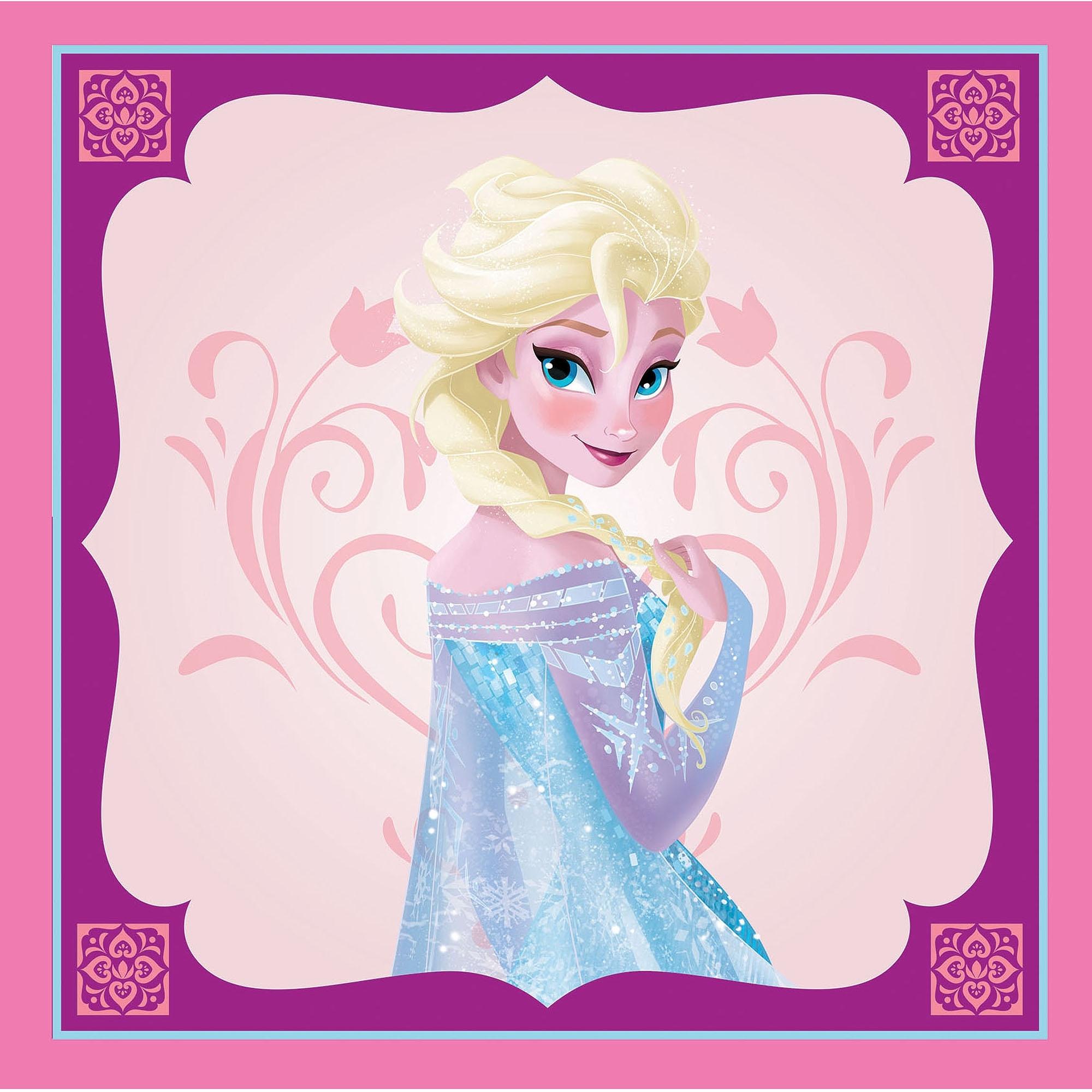 """Elsa Canvas Wall Art For Most Recent Disney Frozen Elsa Canvas Wall Art, 18"""" X 18"""" – Walmart (Gallery 5 of 15)"""