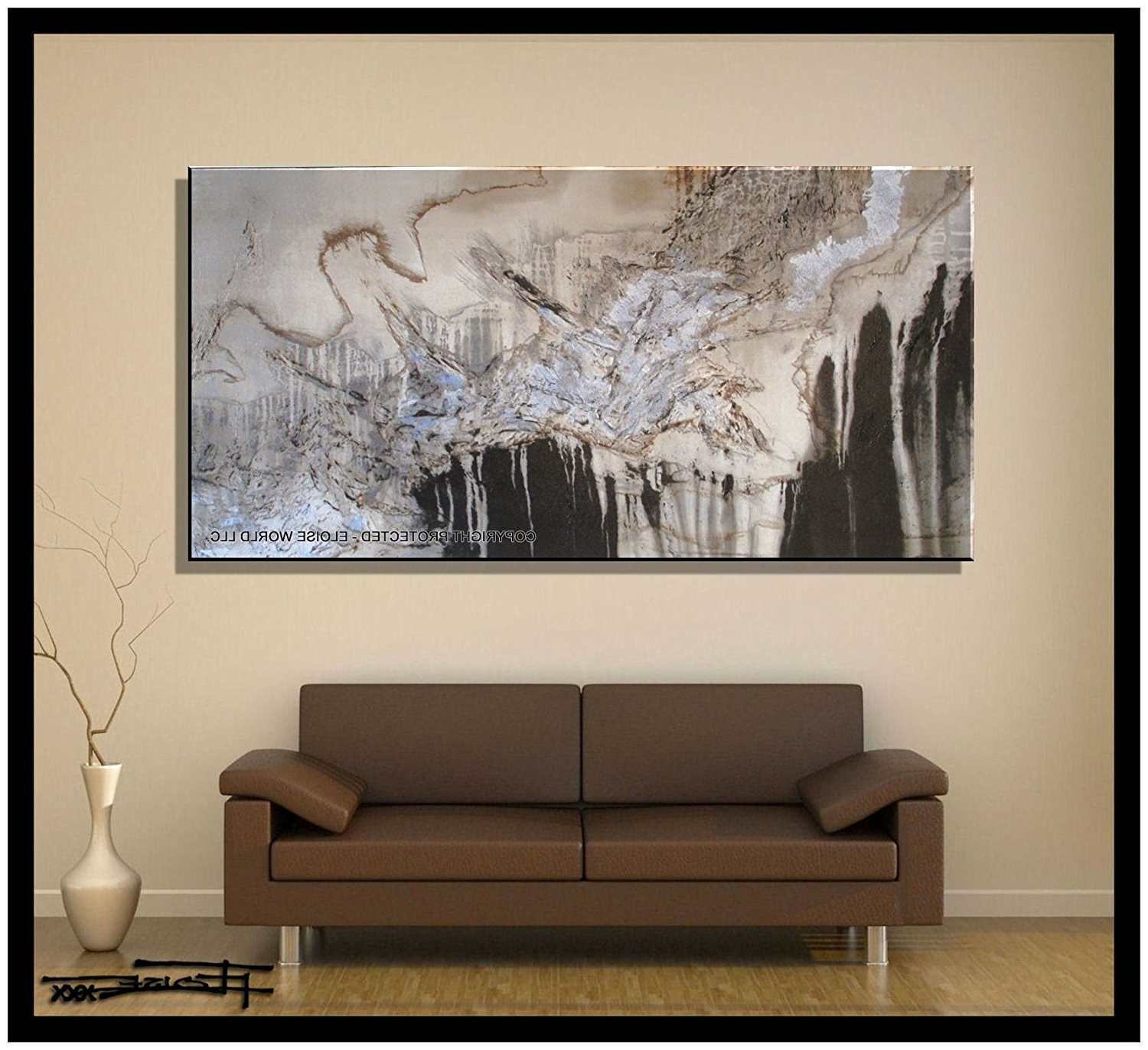 "Embellished Canvas Wall Art Inside Best And Newest Amazon: Xl Modern Canvas Wall Art – ""emerging Eagle"" Limited (View 7 of 15)"