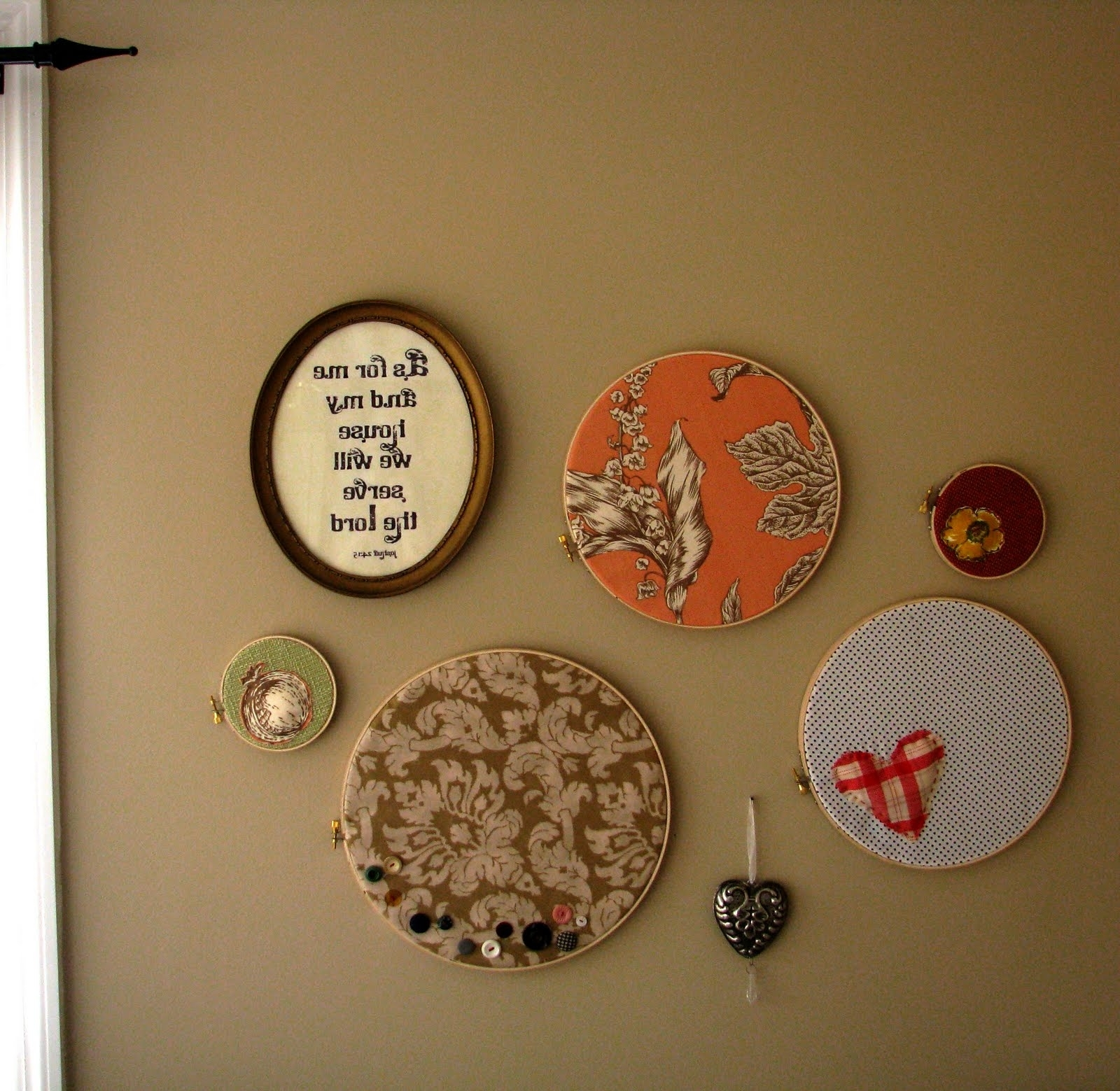 Embroidery Hoop Fabric Wall Art Pertaining To Latest Mostaza Seed: I Heart Hoop Wall Art (View 7 of 15)