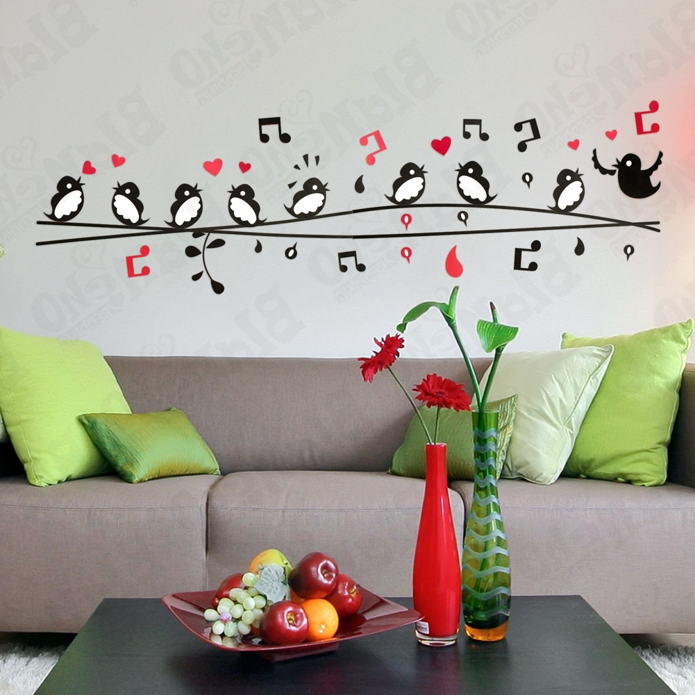Entrancing 40+ Bird Wall Decor Design Decoration Of 3D Bird Wall Within Popular Fabric Bird Wall Art (Gallery 6 of 15)