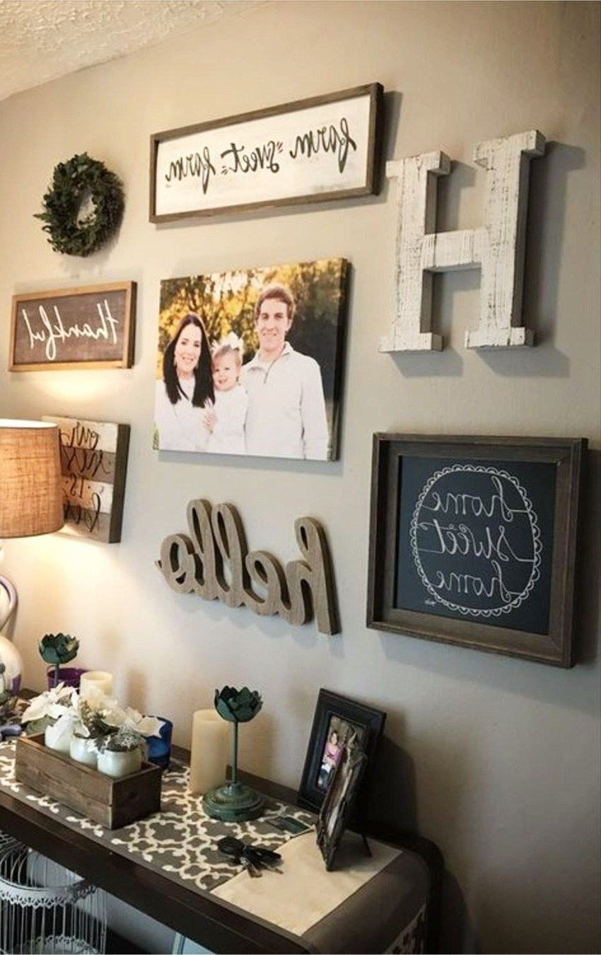 Entryway Wall Accents Throughout Most Recent Diy Gallery Wall Ideas – Accent Wall Decorating Ideas To Copy (Gallery 8 of 15)