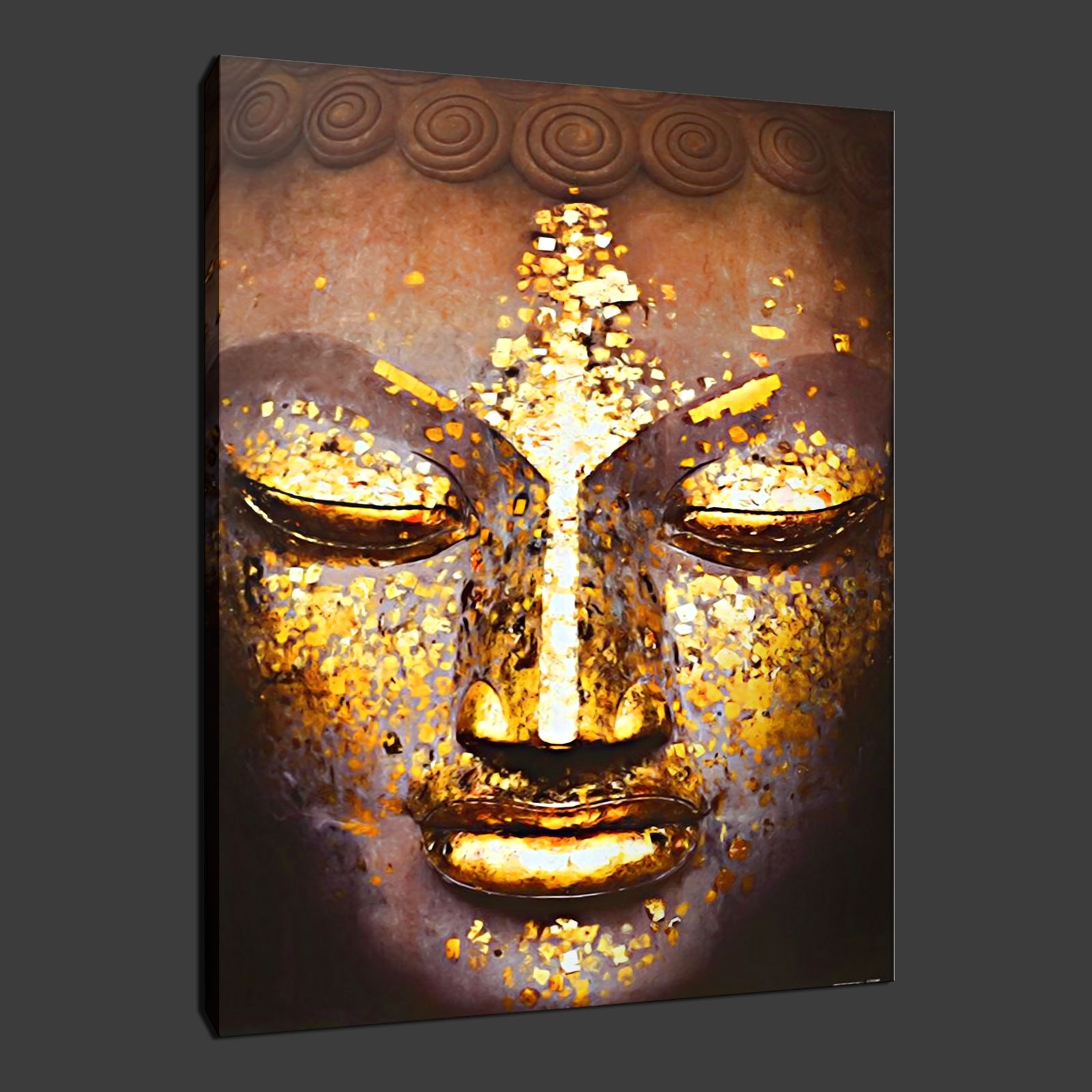Ethnic Canvas Wall Art Regarding Most Up To Date Buddha Ethnic Quality Canvas Print Wall Art Ready To Hang In Art (Gallery 3 of 15)
