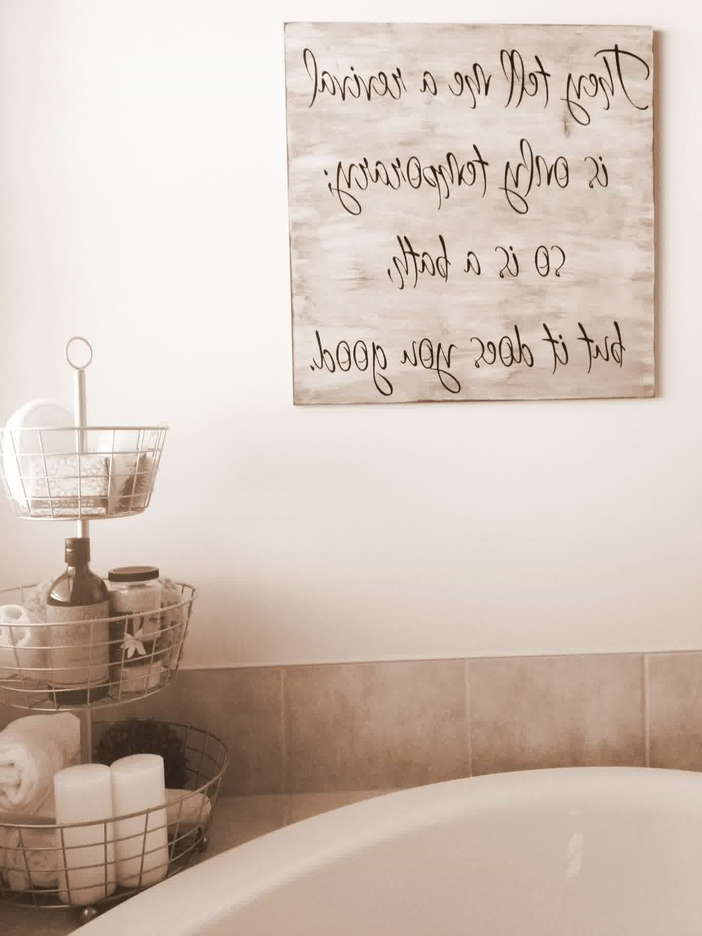 Etsy Wall Accents Regarding Current Bathroom : Impressive Bath Wall Art Or Bathroom Etsy Wash Your (View 10 of 15)