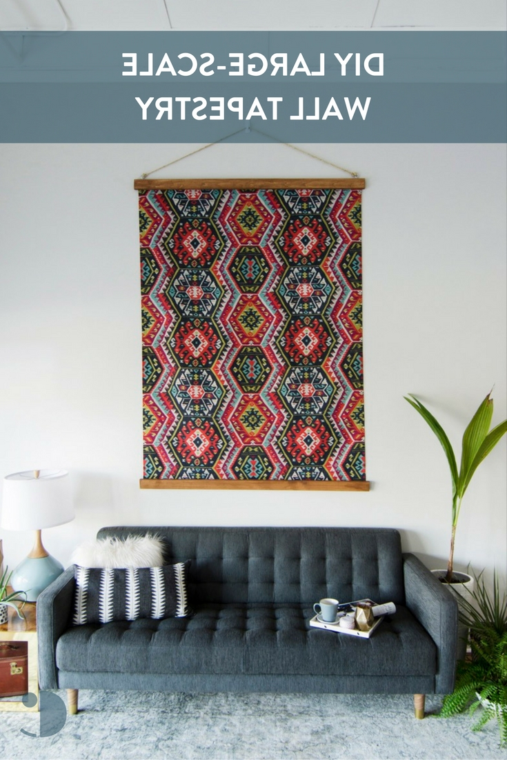 Featured Photo of Diy Large Fabric Wall Art
