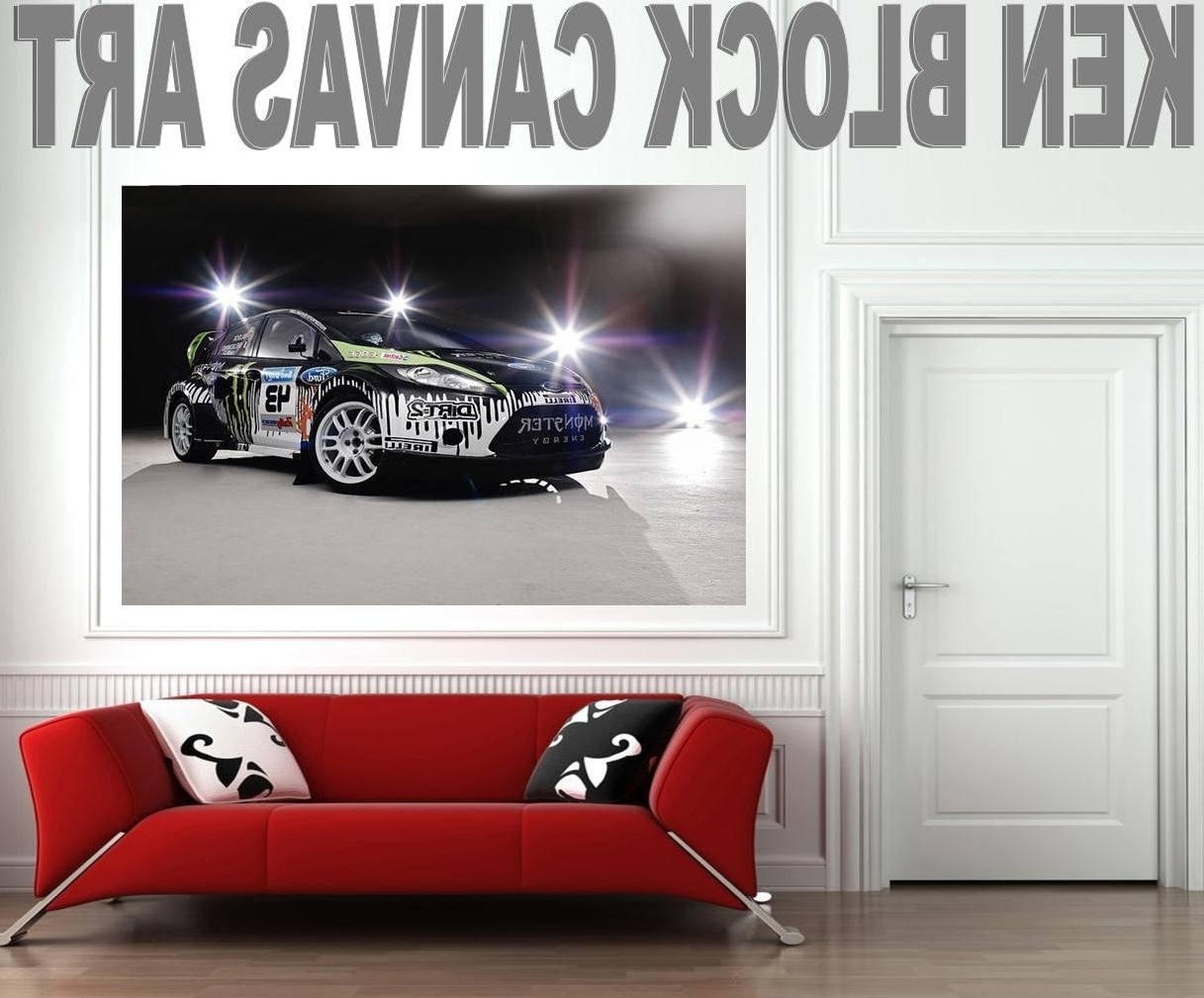 Exclusive Canvas Wall Art: Ken Block Monster Wrc For Newest Cars Theme Canvas Wall Art (View 9 of 15)