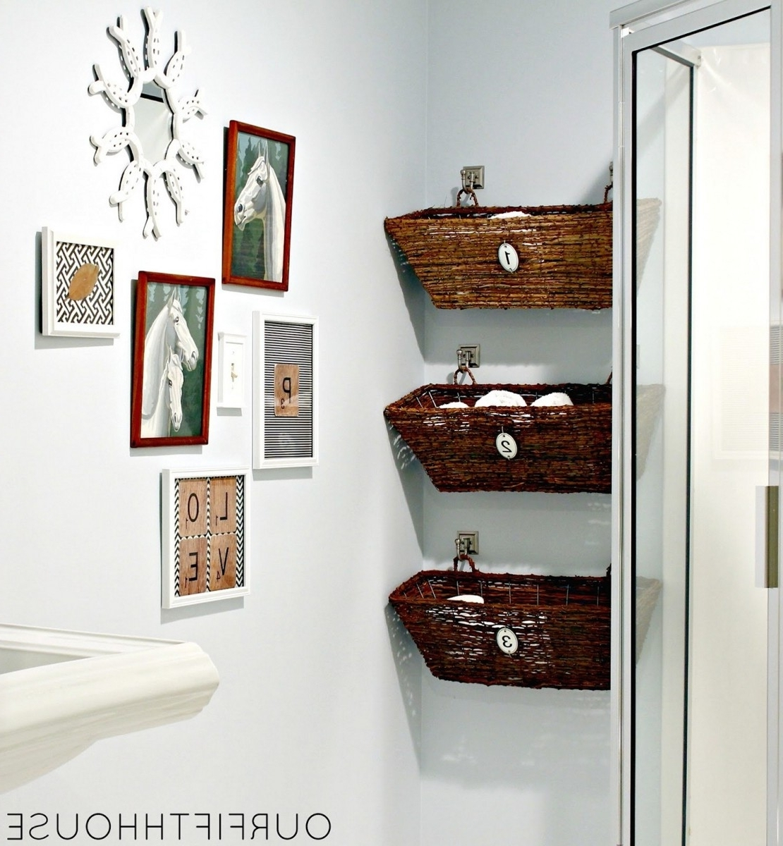 Extraordinary Bathroom Wallpaper Hi Def Awesome Cool Diy Wall In Favorite Wall Accents For Bathrooms (View 6 of 15)