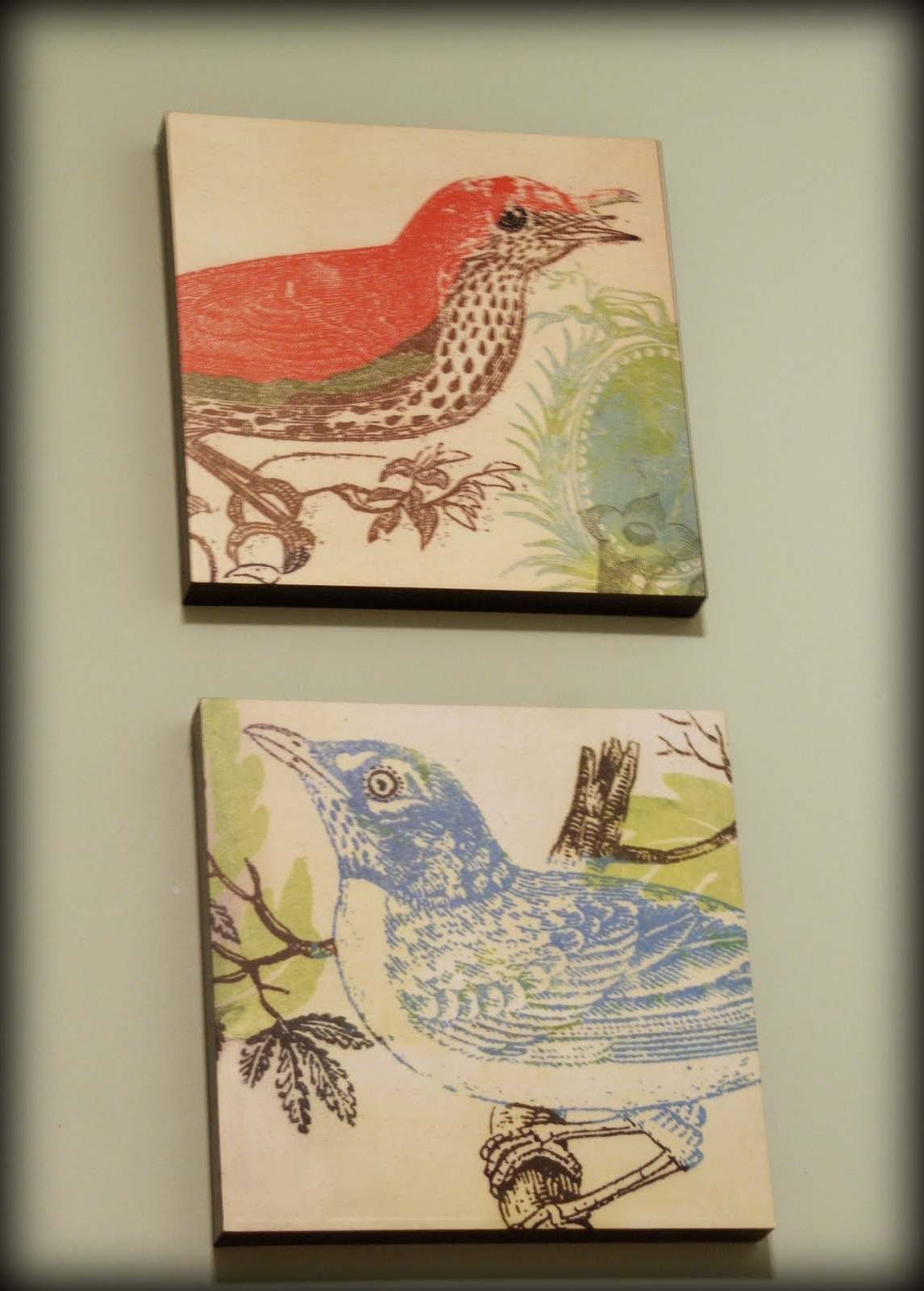 Fabric Bird Wall Art In Well Known Fabric Wall Art Diy; My Retro Kitchen (View 6 of 15)