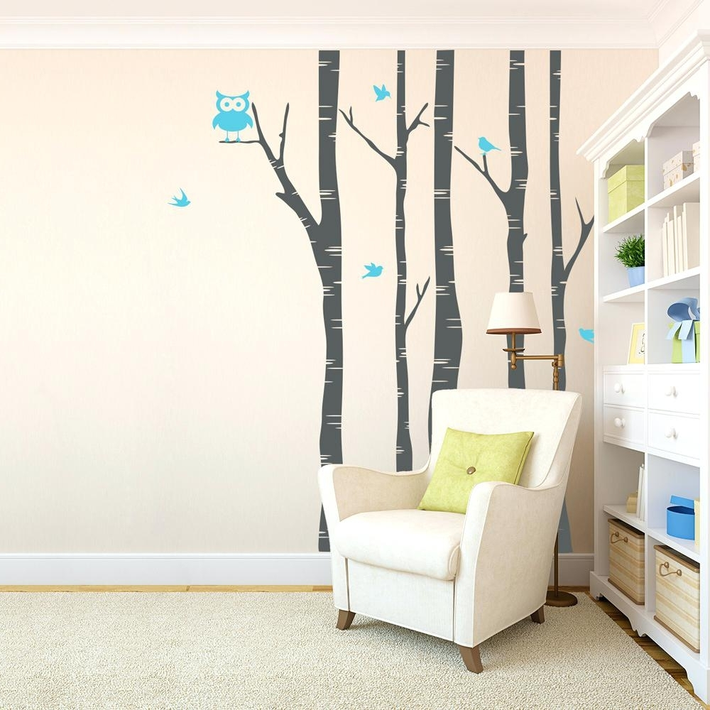 Fabric Bird Wall Art In Well Liked Bird Wall Decals For Nursery Wall Ideas Decorative Fabric Wall Art (View 7 of 15)