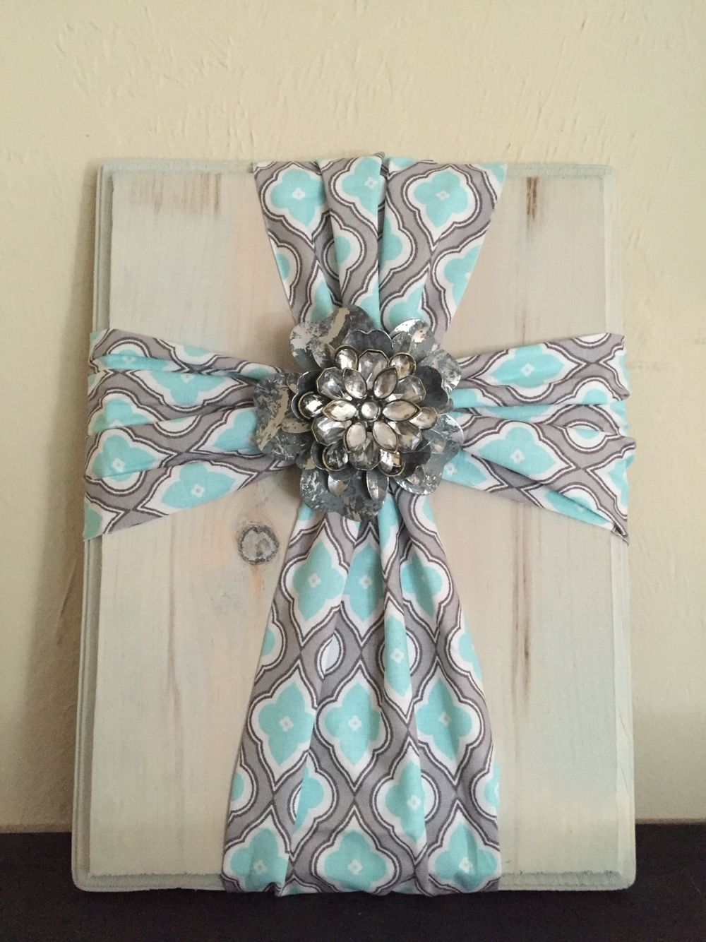 Fabric Cross On Wood. Super Simple And Easy To Make (View 4 of 15)