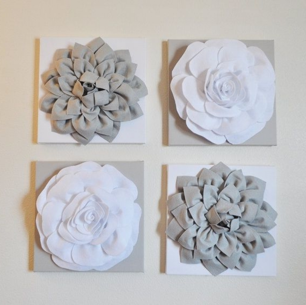 Fabric Flower Wall Art Inside Best And Newest Flower Wall Art Decor 3d Wall Decor Emily Fields And Flower On (View 15 of 15)