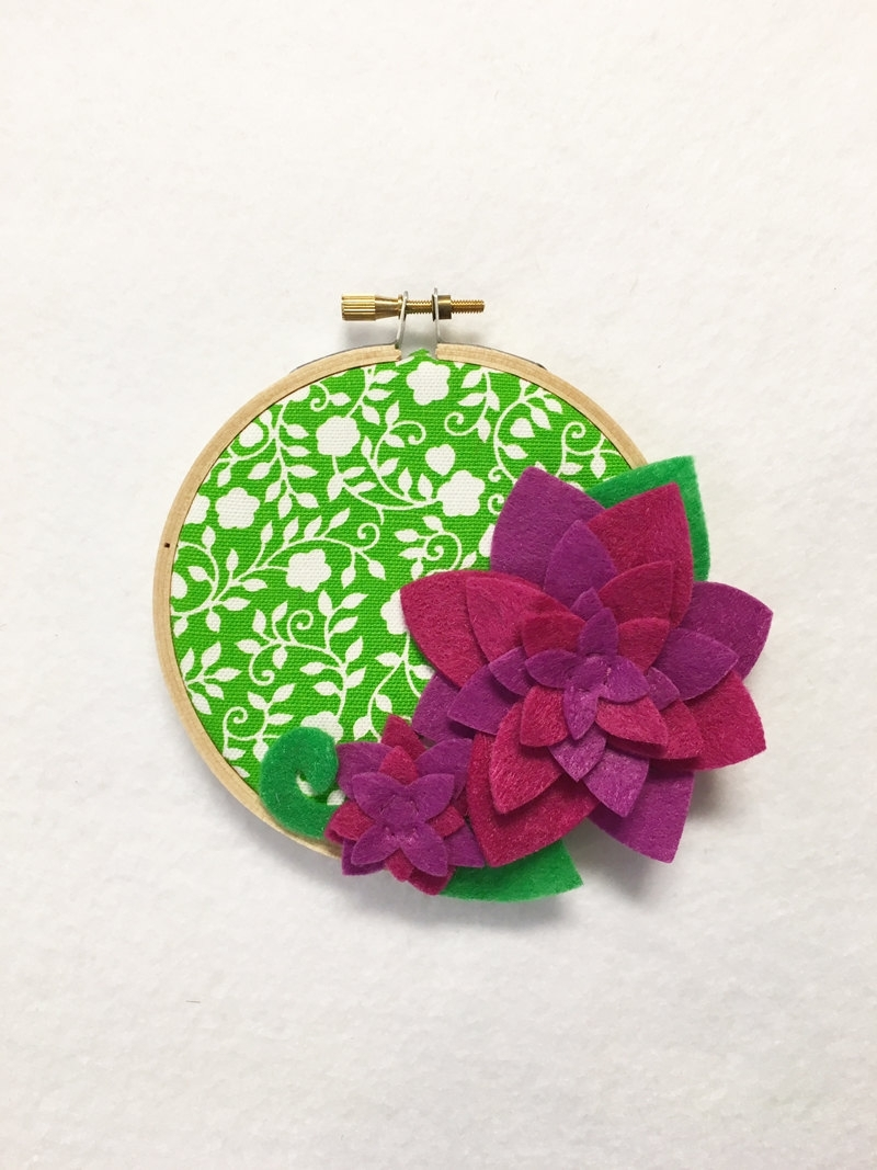 Fabric Hoop Wall Art In Most Recent Fabric Wall Art – Clearance, Embroidery Hoop Art, Juicy ,floral (View 15 of 15)