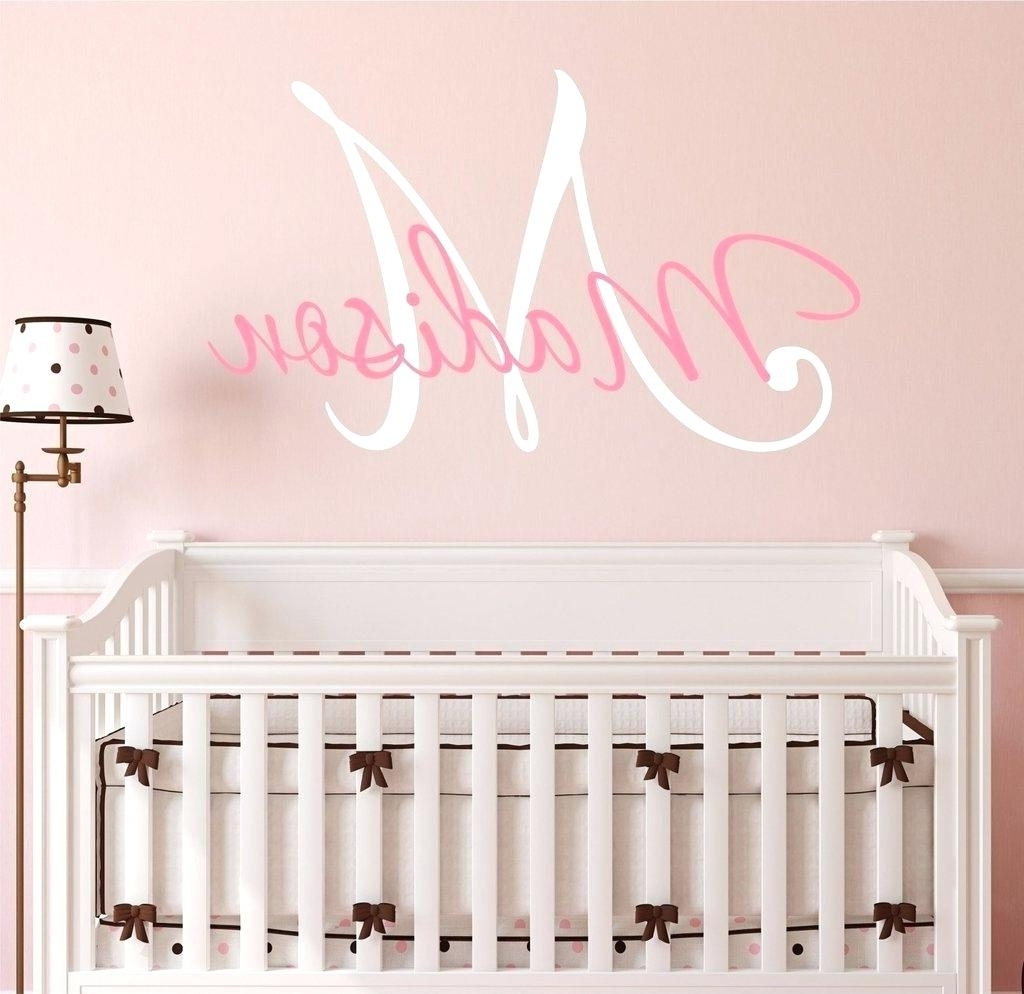 Fabric Name Wall Art Pertaining To Popular Baby Girl Name Wall Decals Wall Art Stickers And Decals Star Name (View 3 of 15)