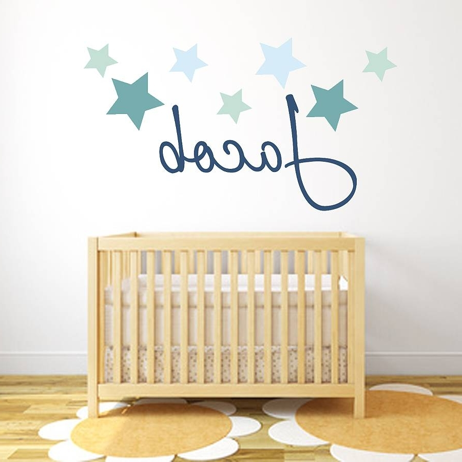 Fabric Name Wall Art With Regard To 2018 Star Name Fabric Wall Stickerslittleprints (View 6 of 15)