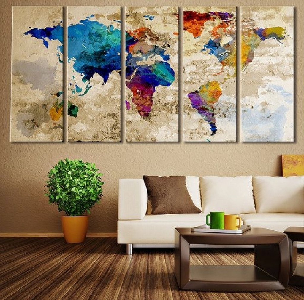 Fabric Painting Wall Art With Regard To 2017 Wall Decor Art Canvas 1000 Ideas About Large Wall Art On Pinterest (View 8 of 15)