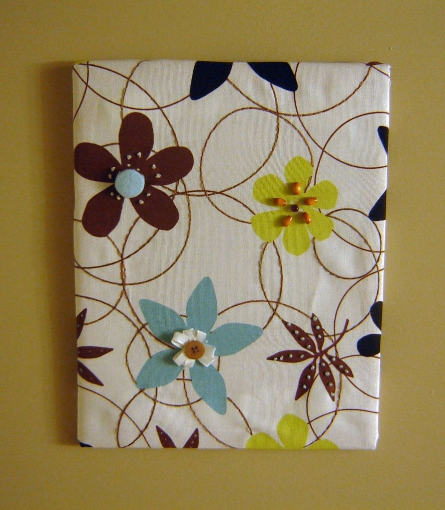 Fabric Panel Wall Art With Embellishments: 8 Steps (With Pictures) With Regard To Preferred Fabric Panel Wall Art With Embellishments (View 5 of 15)