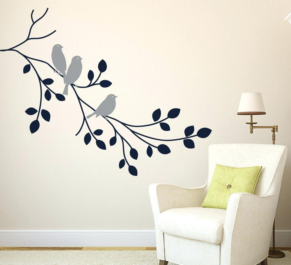 Fabric Tree Wall Art Inside 2018 Grey Tree Wall Decal – Gutesleben (View 7 of 15)