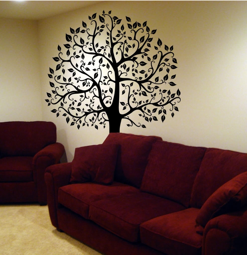 Fabric Tree Wall Art Pertaining To Fashionable Decorating. Tree Wall Decals Design Inspiration (View 8 of 15)
