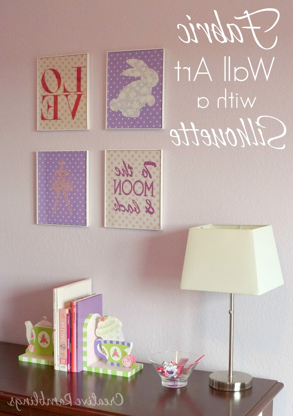 Fabric Wall Art For A Little Girl's Room – Creative Ramblings In Most Recent Personalized Fabric Wall Art (View 5 of 15)