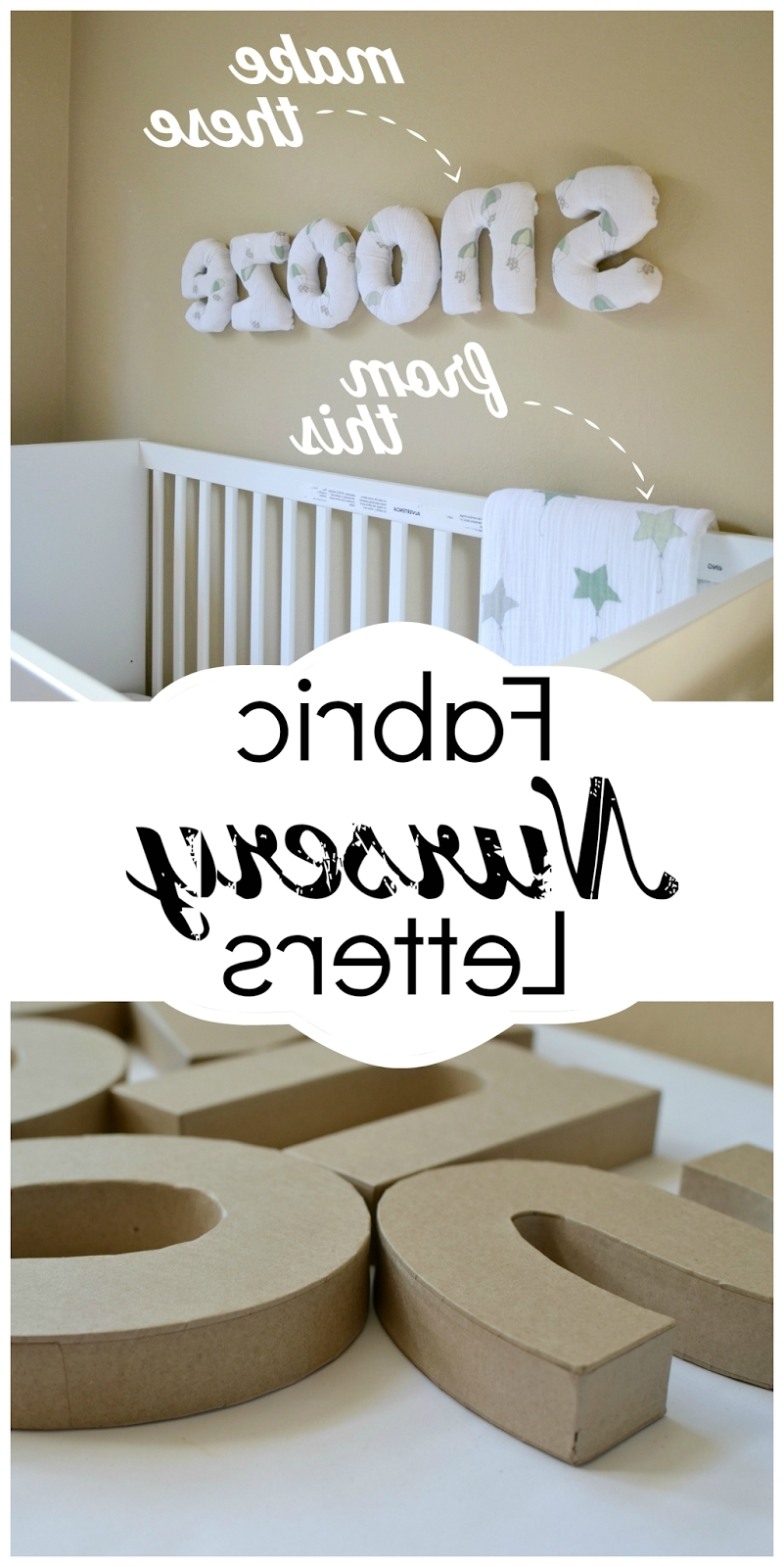 Fabric Wall Art Letters Inside Most Up To Date How To Make Easy Diy Fabric Letters For Your Nursery (View 5 of 15)