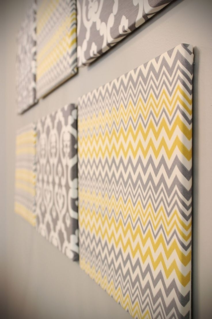 Fabric Wall Art Patterns For 2018 Fabric Stretched Over Wooden Frames? I Might Have To Experiment (View 6 of 15)