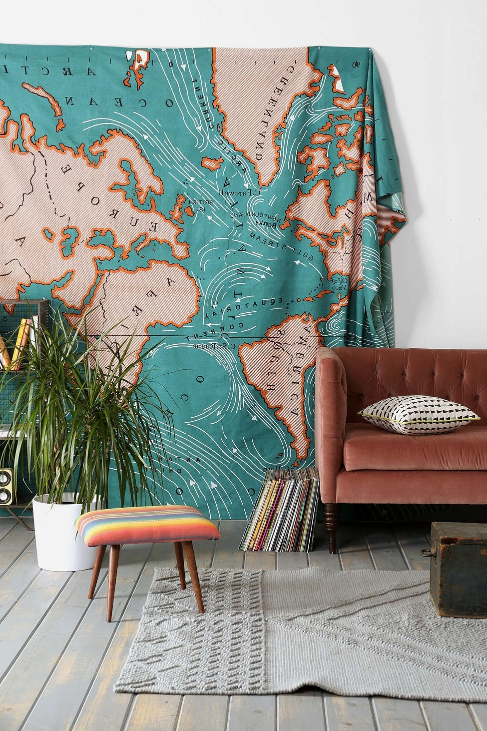 Fabric Wall Art Urban Outfitters Within Fashionable Spice Up Your Space: 20 Living Room Wall Decor Ideas (View 7 of 15)