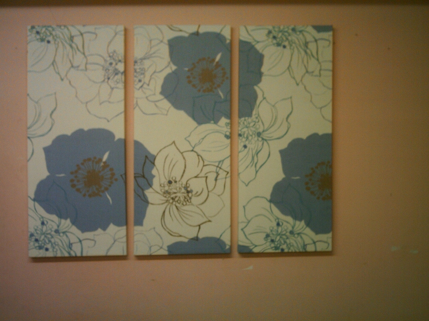 Fabric Wall Designs Withal Contemporary Fabric Wall Art Big Fabric Pertaining To Latest Blue Fabric Wall Art (View 15 of 15)