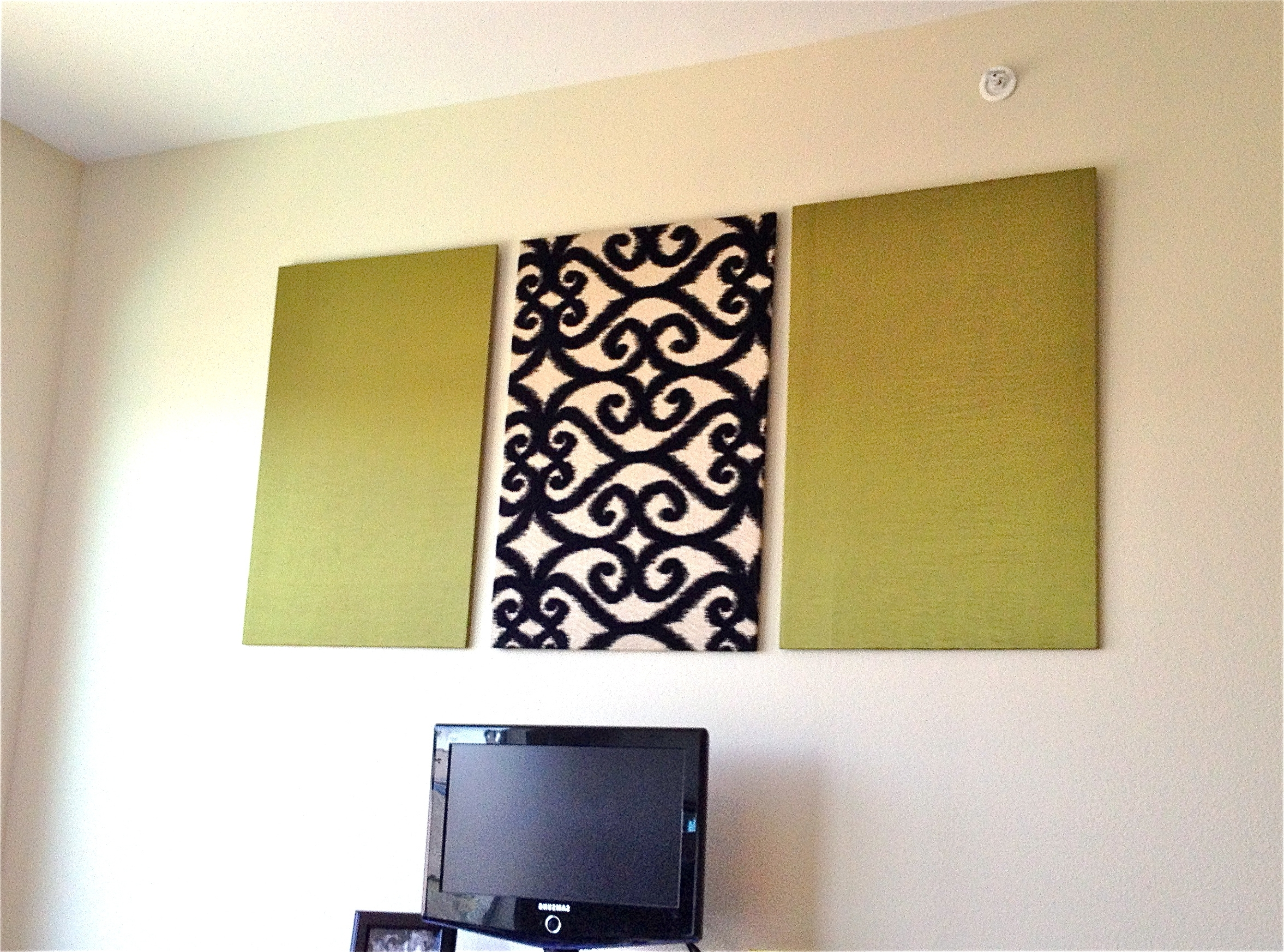 Polystyrene Wall Panels : Popular fabric wrapped styrofoam wall art