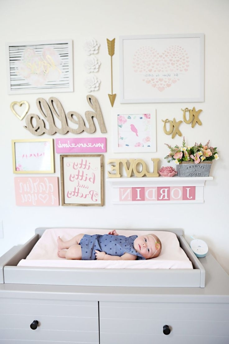 Famous 412 Best Gallery Walls Images On Pinterest Pertaining To Girl Nursery Wall Accents (View 2 of 15)