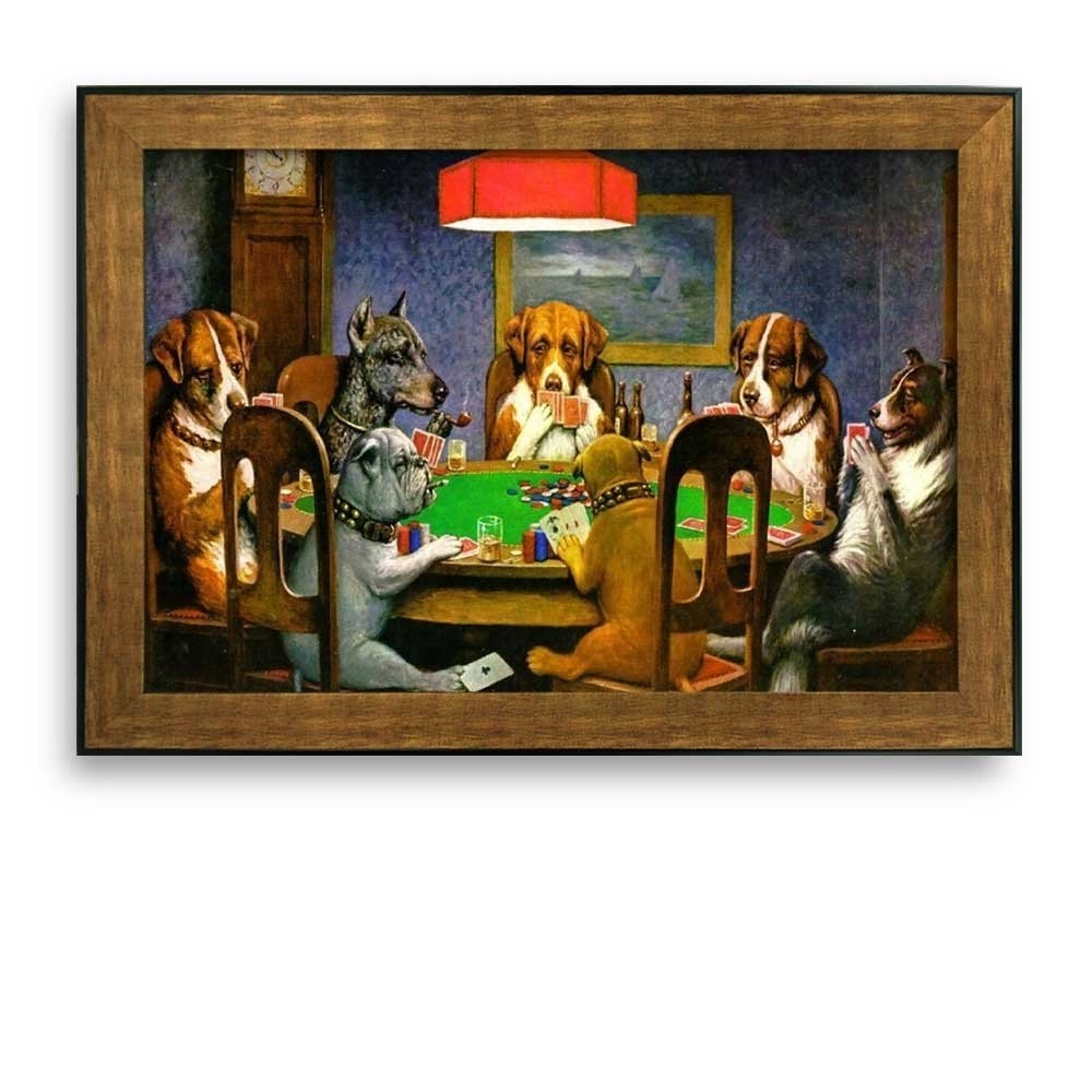 Famous Art Framed Prints Throughout Most Popular Amazon: Wall26 Framed Art Prints – A Friend In Need (dogs (View 7 of 15)