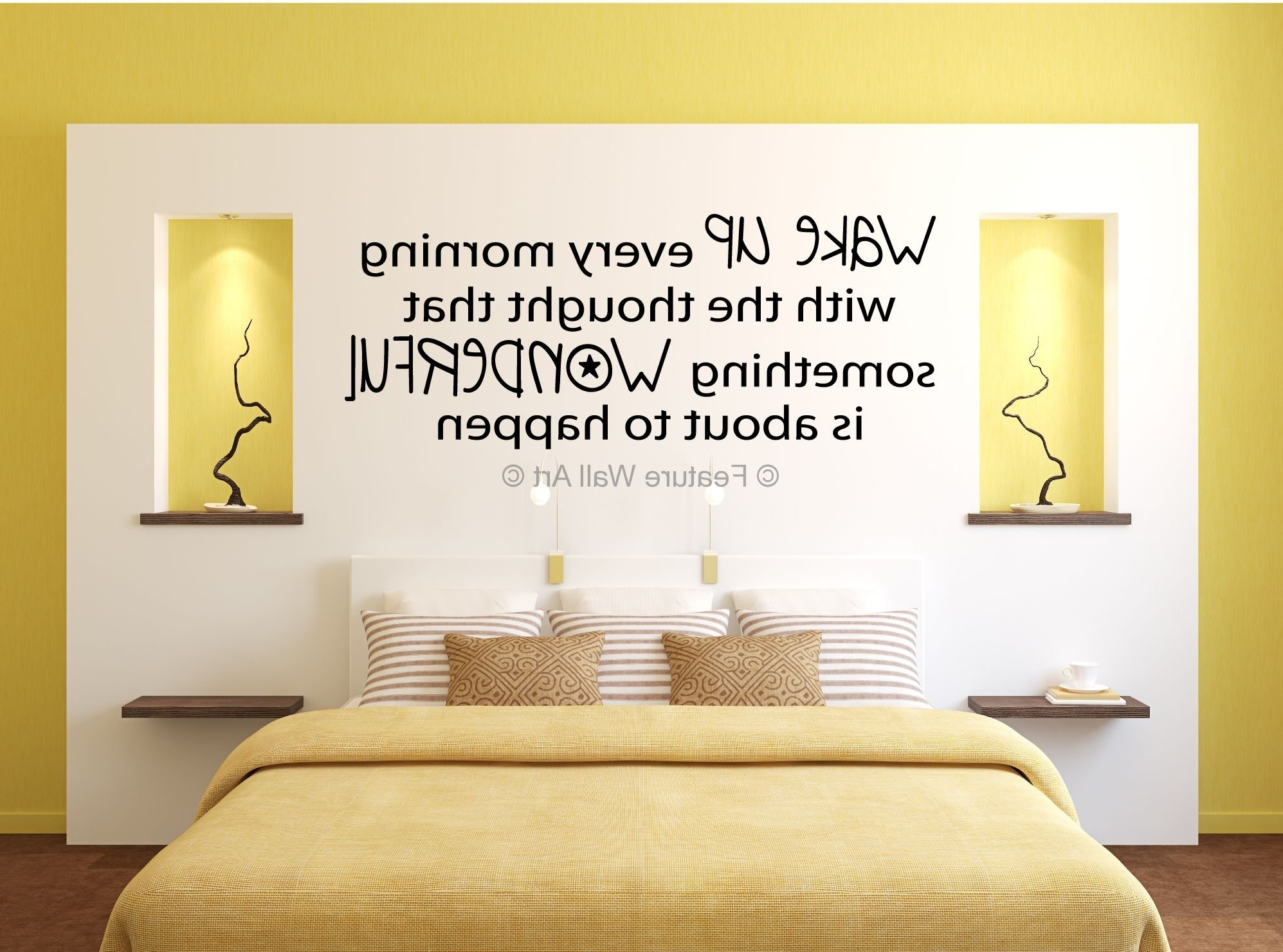 Famous Bedroom : Wall Art Design Ideas Yellow Bedroom Decorations Also In Yellow Wall Accents (View 3 of 15)