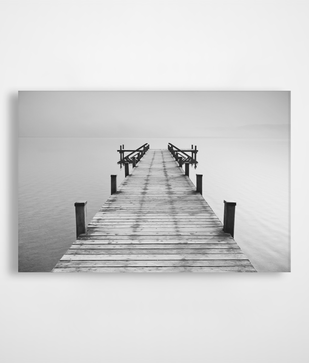 Famous Black And White Jetty Canvas Print In Stock (View 7 of 15)