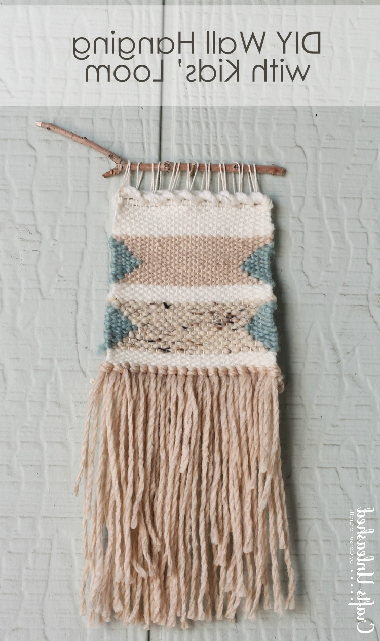 Famous Diy Woven Wall Hanging: With Kids Loom – Crafts Unleashed In Woven Textile Wall Art (View 4 of 15)