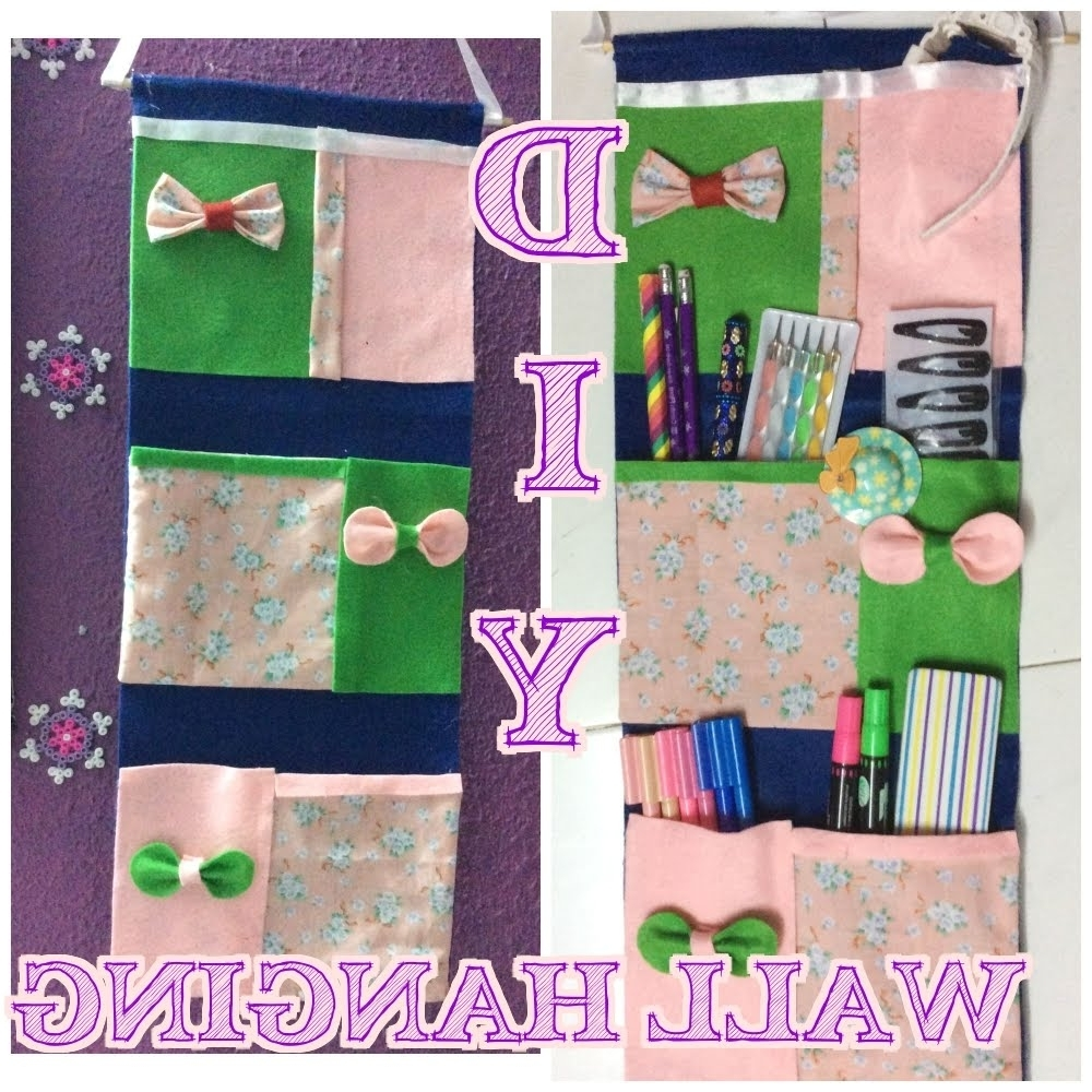 Famous ✂ ✂ ✂ Diy No Sew Pocket Wall Hangings 4 Stationeries In No Sew Fabric Wall Art (View 2 of 15)