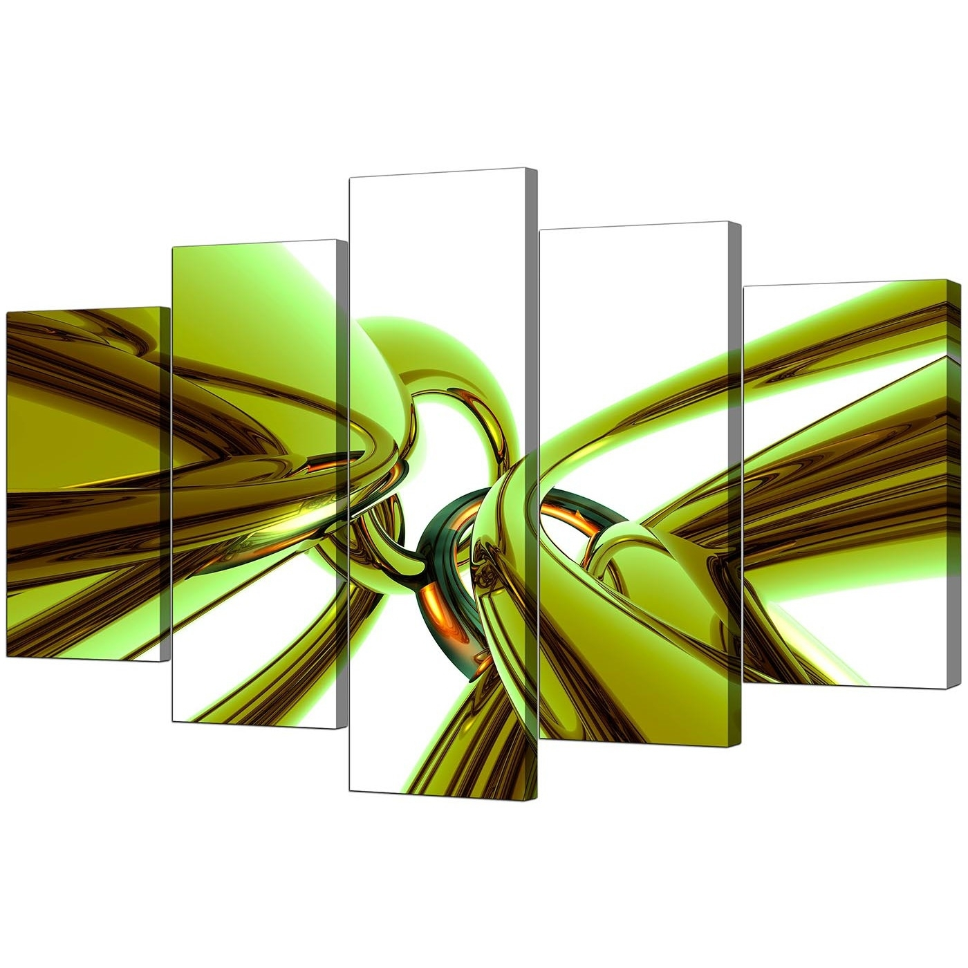 Famous Extra Large Green Abstract Canvas Prints Uk – 5 Piece Throughout Lime Green Canvas Wall Art (View 4 of 15)