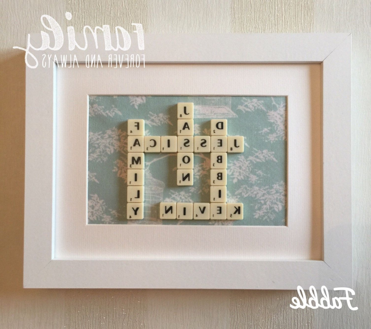 Famous Fabric Square Wall Art Pertaining To Scrabble Tile Wall Decor – Scrabble Tile Wall Decor Gift (View 10 of 15)