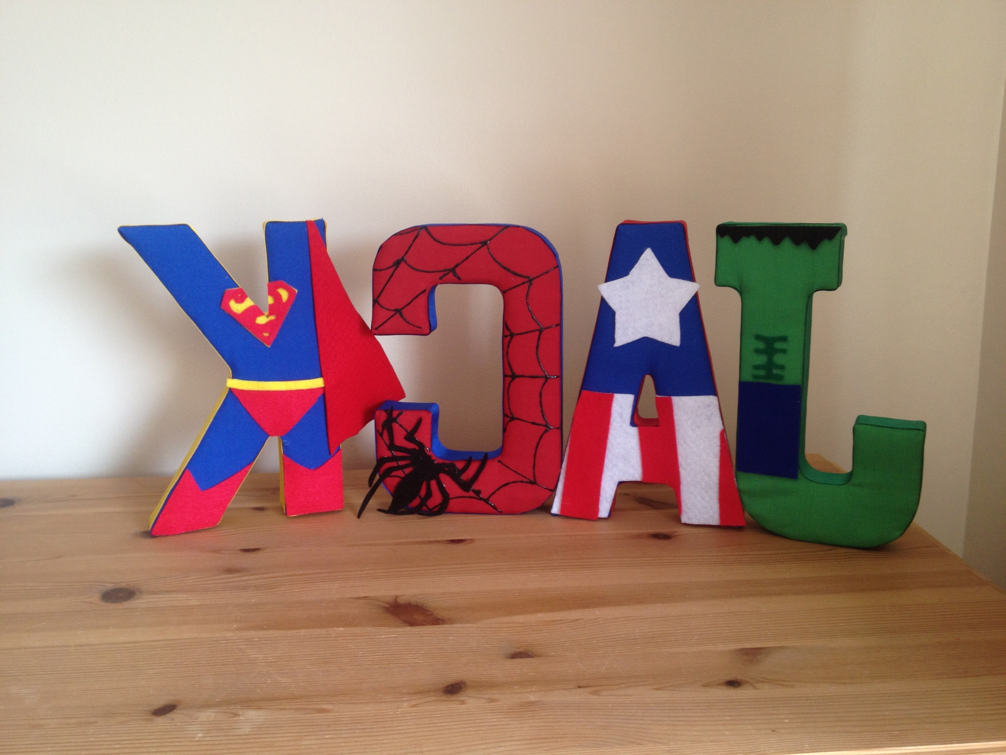 Famous Fabric Wall Art Letters With Superhero Fabric Wall Letters – Could Make All Star Wars For (View 8 of 15)