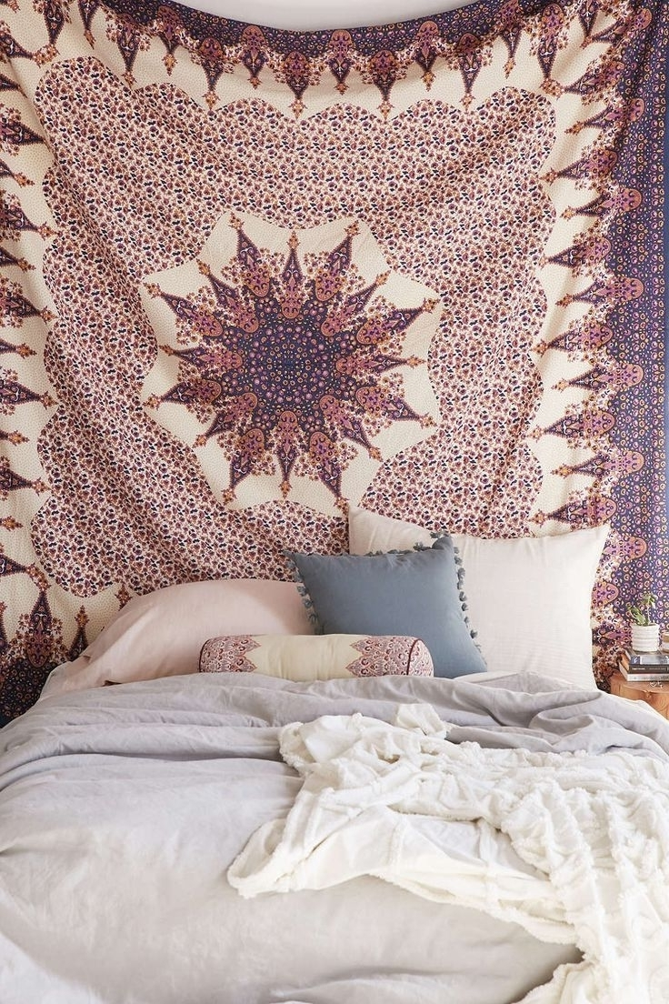 Famous Fabric Wall Art Urban Outfitters With Bedroom : Urban Outfitters Bedding Ideas Large Brick Pillows Urban (View 8 of 15)