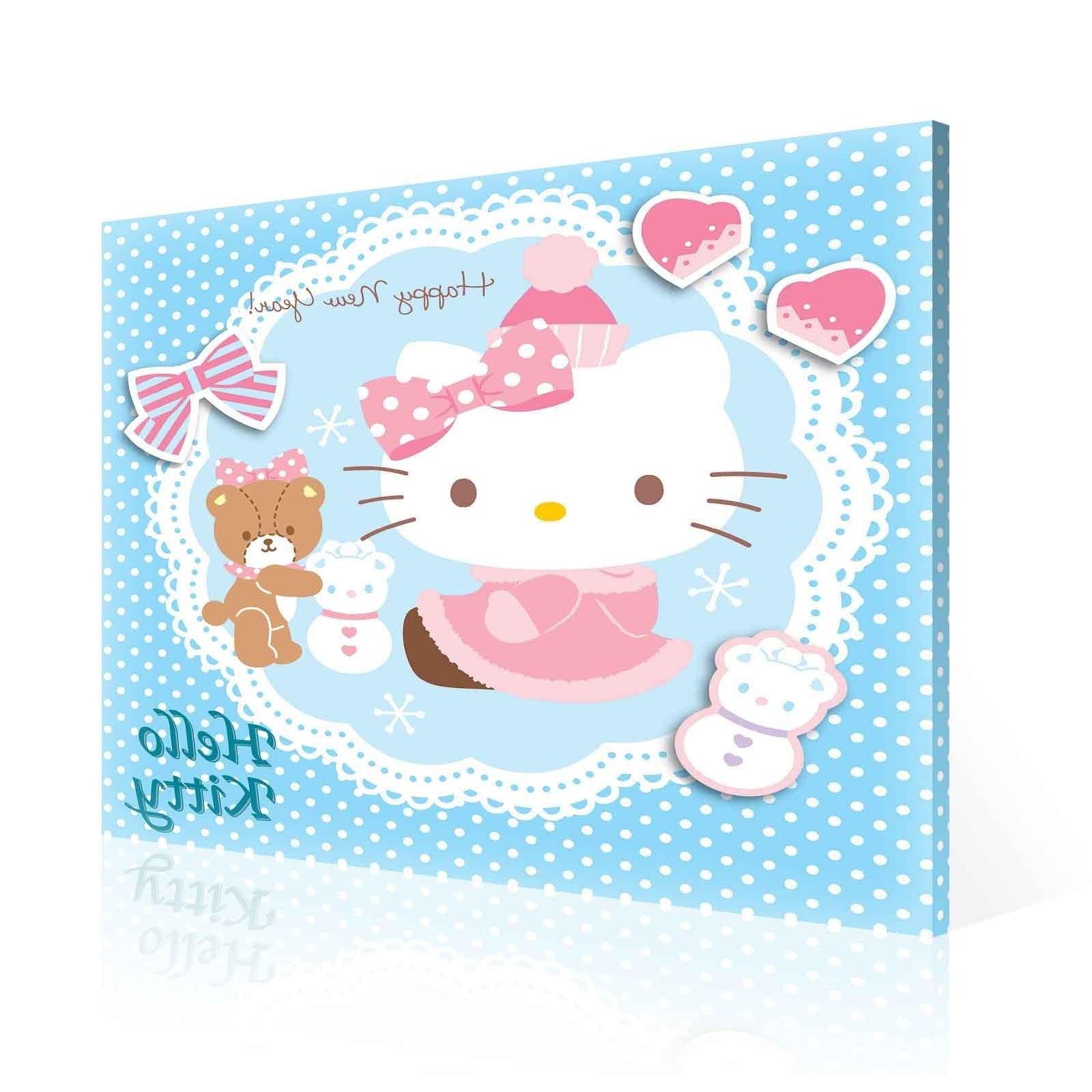 Famous Hello Kitty Canvas Print (Ppd640O2) – Top 50 Bestselling Canvas Throughout Hello Kitty Canvas Wall Art (View 12 of 15)